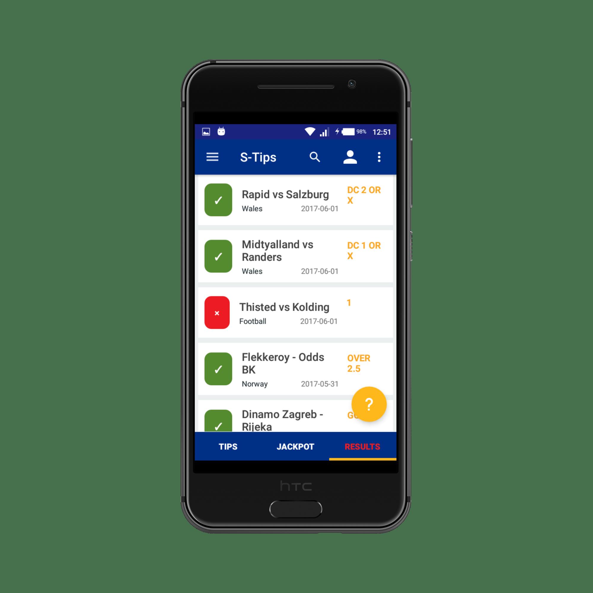 Sportpesatips Android app 2